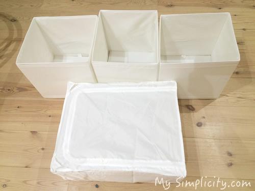 洋服のミニマイズ&断捨離を進めつつ、IKEAのシンプルな白ボックスに収納してみた